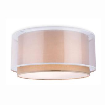 Firstlight Chicago Flush Ceiling Fitting In Taupe With Frosted Diffuser
