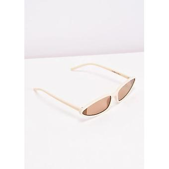 Cat Eye Retro Sunglasses Beige