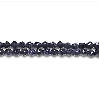 Pakiet 12 x niebieski Goldstone 4mm szlifowane koraliki okrągłe VP3005