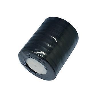 1 x zwarte Organza Lint 50 Yards x 15 mm spoel Y07620