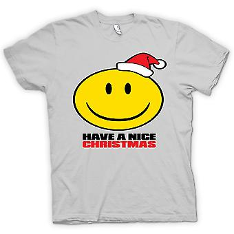Womens T-shirt - Smiley Face, Have A Nice Christmas