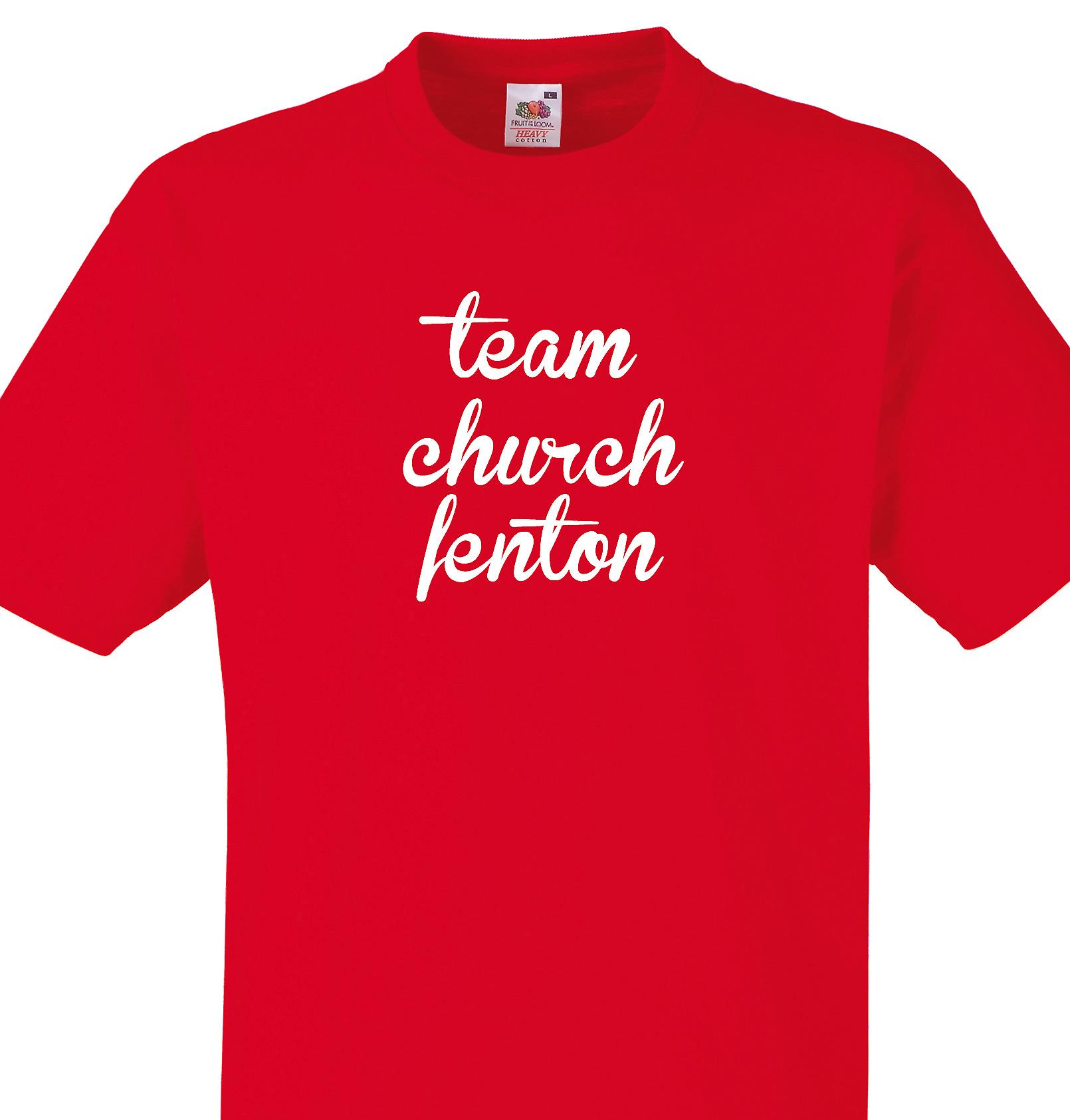 Team Church fenton Red T shirt