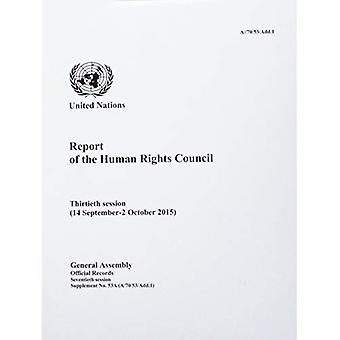 Report of the Human Rights Council Thirtieth Session (14 September-2 October 2015)