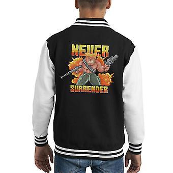 Nooit overgave soldaat Pixel Art Kid's Varsity Jacket