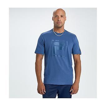 Fila Alexis Tonal Twill T-shirt In Blue