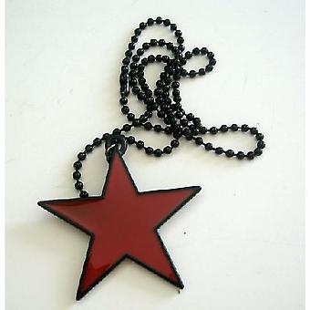 Hip Hop Anhänger Halskette w / schwarz Kette Sterne 24 Zoll