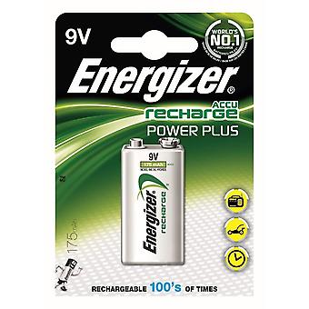 Energizer Recharge Power Plus Rechargeable 9V Batteries, 1 Pack