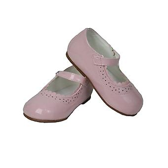 Baby Girls Wedding Party Patterned Christening Pink Shoes