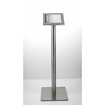 Tablet floorstand stainless steel BRUSHED