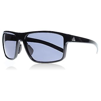 Adidas A423/00 6050 Shiny Black Whipstart Rectangle Sunglasses Cycling, Running, Driving Lens Category 3 Size 61mm
