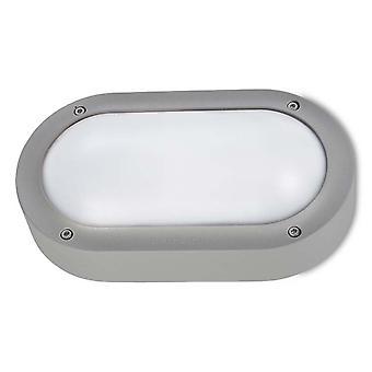 Grundlegende LED Aluminium grau Outdoor-Wandleuchte - Leds C4 05-9886-34-CL
