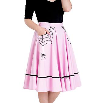 Hell Bunny różowy Miss Muffet spódnica M