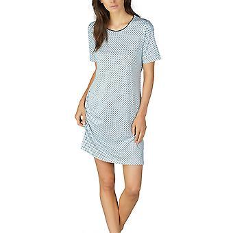 Mey donne Sonja Night Blue 11953-408 femminile Spotted cotone camicia da notte