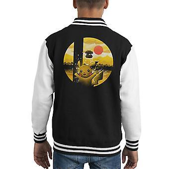 Smashbros Pokemon Kid's Varsity Jacket