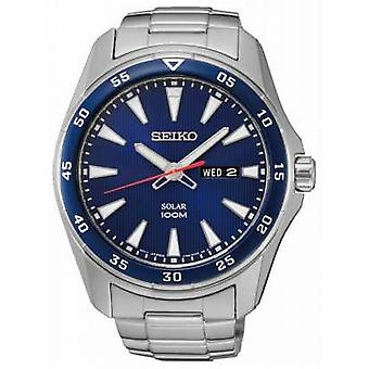 Seiko Mens Solar Stainless Steel Blue Dial SNE391P1 Watch
