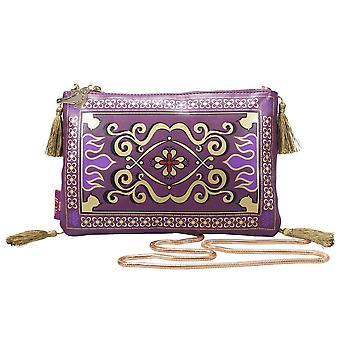 Disney Tasche Aladdin Magic Carpet lila/goldfarben, bedruckt, 100 % Polyurethan/Nylon.