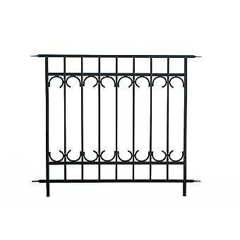 Panacea Park Lane Fence Section Black stylish