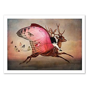 Art-poster-Njut av åkturen-Catrin Welz-Stein 50 x 70 cm