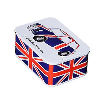 Union jack tin 10 english breakfast teabags (jfuncar) by british heritage cars™