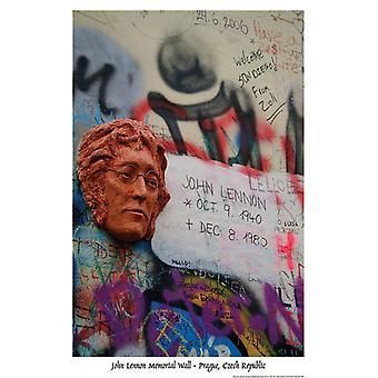 Poster - Studio B - Lennon Wall Memorial - Prague Wall Art P1625