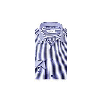 Eton Contemporary Fit Shirt Navy Stripe