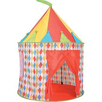 空気子供王国の精神が新しいサーカス プレイ テントをポップアップします。
