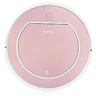 Ilife v7s smart robotic vacuum cleaner self recharging remote control high efficiency robot sweeper for home(eu plug) rose gold