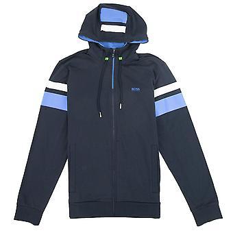 Hugo Boss saggy strip arm Hoody Sweatshirt blauw