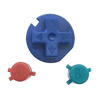 Pokemon edition replacement button set a b d-pad for nintendo game boy color - blue red & green