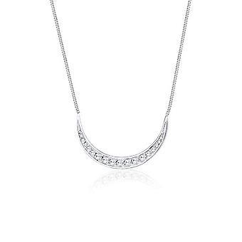 Elli Halskette mit Damen Anhänger in Silber mit weißen Zirkoniumoxid - 45 cm
