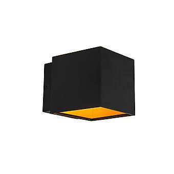 La valeur de QAZQA van wandlampen 2 Caja zwart/goud