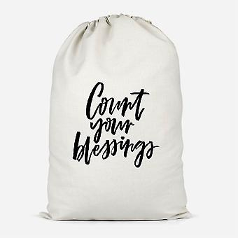Count Your Blessings Cotton Storage Bag