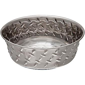 Ruff-N-Tuff 1 Pint Diamond Plate Bowl W/Non-Skid Bottom-  LP7254