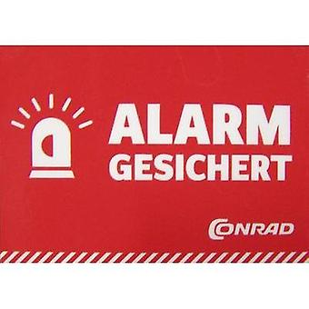 Warning label Alarm secured Languages German (W x H) 70 mm x 49 mm 1217215