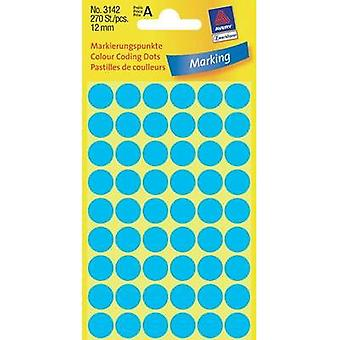 Avery-Zweckform 3142 Labels (hand writable) Ø 12 mm Paper Blue 270 pc(s) Permanent Sticky dots