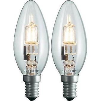 Eco halogen 100 mm sygonix 230 V E14 28 W Warm white EEC: C Candle shape dimmable 2 pc(s)