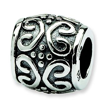 Sterling Silver Reflections Scroll Dots Bali Bead Charm