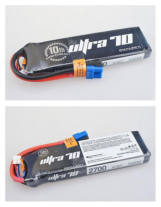 2700 mAh 70C 3s1p 11,1 v, 12 C charge