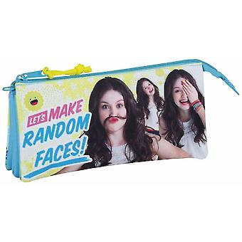 Safta Portatodo Triple Soy Luna Faces (Toys , School Zone , Pencil Case)