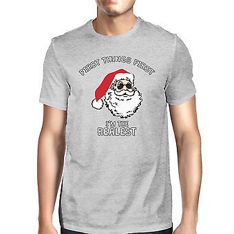 قميص مضحكة واقعية سانتا غراي للرجال هدية عيد الميلاد تي شيرت