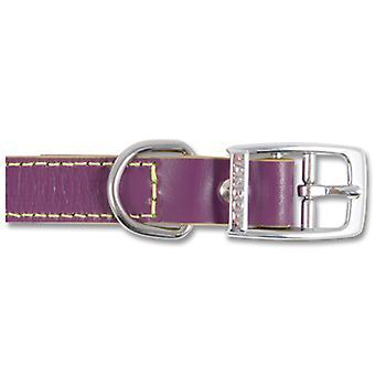 Indulgence Leather Collar Grape Sz 6-7 45-59cm