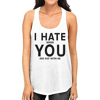 I Hate You Women's Cotton Tank Top Funny Graphic Gift Ideas For Her