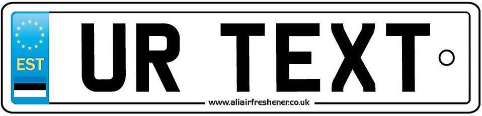 Personalised Estonia Numberplate Car Air Freshener