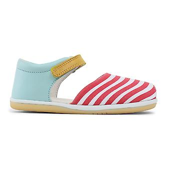 Bobux Kid+ Girls Spin Sandals Aqua Red