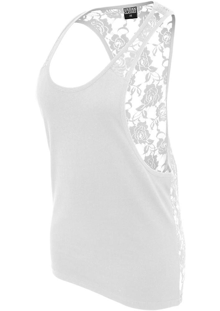 Urban classics tank top ladies flower laces loose TB712