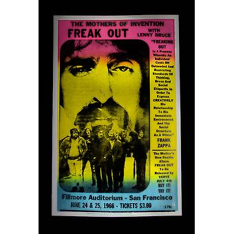 Freak Out retro concert poster