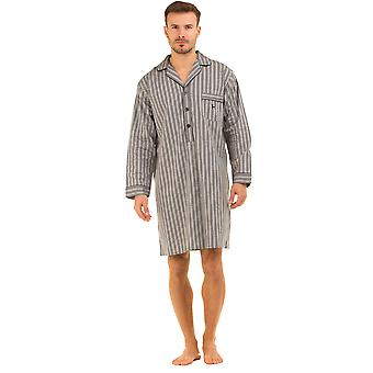 Mens Haigman Printed 100% Cotton Nightshirt Sleepwear Nightwear Lounge Wear