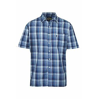Mens Champion Country Newmarket Casual Check Short Sleeved Polycotton Shirt
