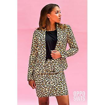 The JAG 70's Leopard ladies costume Opposuit 70s Slimline 2 premium EU SIZES