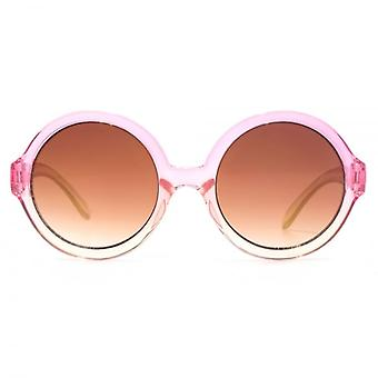 Monkey Monkey Childrens Maddie Round Sunglasses In Crystal Pink Peach